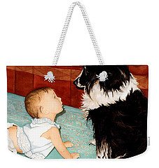 Face-to-nose Weekender Tote Bag by Barbara Jewell