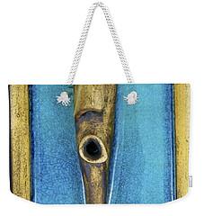 Faces #5 Weekender Tote Bag by Mario Perron