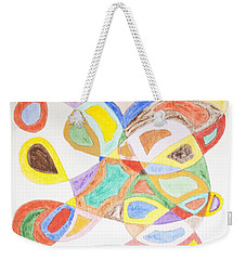 Weekender Tote Bag featuring the painting Masks by Stormm Bradshaw