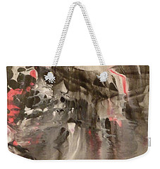 Weekender Tote Bag featuring the painting Facial Expressions by Mike Breau
