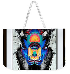 Weekender Tote Bag featuring the painting Facial Expressions by Rafael Salazar