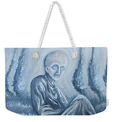 Weekender Tote Bag featuring the painting Fade Away by Michael  TMAD Finney
