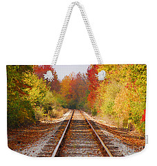 Fading Tracks Weekender Tote Bag by Mary Carol Story