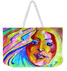 Weekender Tote Bag featuring the drawing Faerie Princess by Leanne Seymour