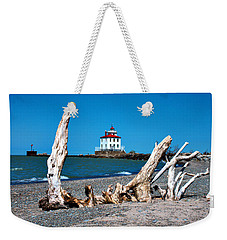 Weekender Tote Bag featuring the photograph Fairport Harbor Lighthouse 2 by Michelle Joseph-Long