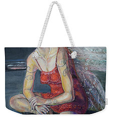 Fairy On A Stone Weekender Tote Bag