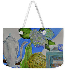 Weekender Tote Bag featuring the painting Fairy Soda Fine Crackers by Beverley Harper Tinsley
