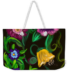 Fairy Tale Flowers Weekender Tote Bag by Christine Fournier