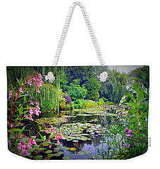 Fairy Tale Pond With Water Lilies And Willow Trees Weekender Tote Bag