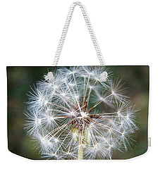 Weekender Tote Bag featuring the photograph Fairy Umbrellas by Kathy Barney