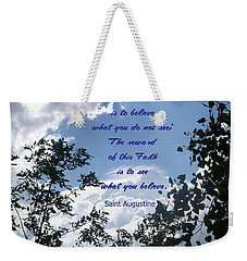 Faith Weekender Tote Bag by Aimee L Maher Photography and Art Visit ALMGallerydotcom