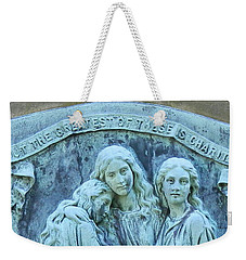 Weekender Tote Bag featuring the photograph Faith Hope Charity by Kathy Barney