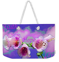 Faith-hope-love Weekender Tote Bag