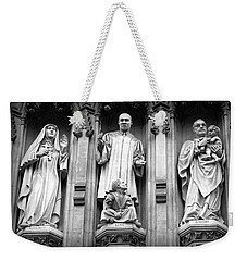 Faithful Witnesses -- Martin Luther King Jr Remembered With Bishop Romero And Duchess Elizabeth Weekender Tote Bag by Stephen Stookey