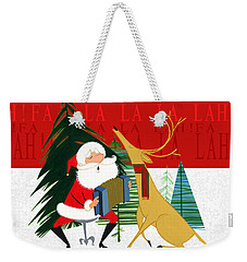 Weekender Tote Bag featuring the painting Falalalalah by Michael Humphries