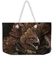 Weekender Tote Bag featuring the pastel Falcon Opera  by Peter Suhocke
