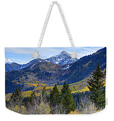 Fall At Cascade Peak And Sundance From Alpine Loop  Weekender Tote Bag