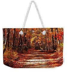 Fall At Cheesequake Weekender Tote Bag