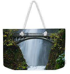 Fall At Multnomah Falls Weekender Tote Bag by Don Schwartz