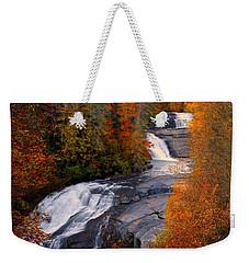 Fall At Triple Falls Weekender Tote Bag