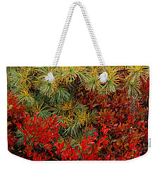 Fall Blueberries And Pine-sq Weekender Tote Bag
