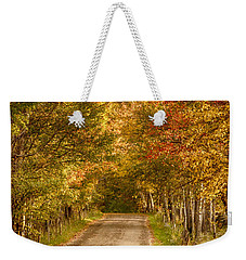 Fall Color Along A Peacham Vermont Backroad Weekender Tote Bag by Jeff Folger