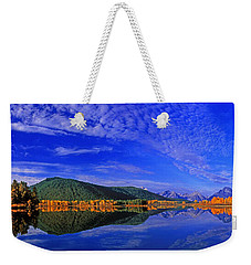 Weekender Tote Bag featuring the photograph Fall Color Oxbow Bend Grand Tetons National Park Wyoming by Dave Welling