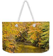 Fall Creek Foliage Weekender Tote Bag