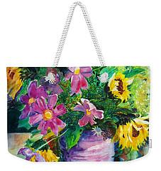 Fall Floral Sweetness Weekender Tote Bag