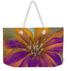 Fall Flower Weekender Tote Bag by WB Johnston