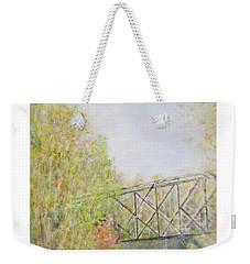 Fall Foliage And Bridge In Nh Weekender Tote Bag