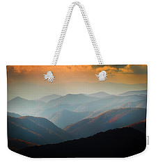 Fall Foliage Ridgelines Great Smoky Mountains Painted  Weekender Tote Bag