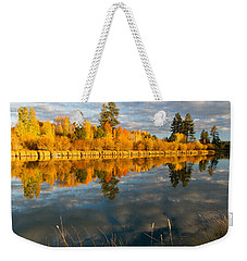 Weekender Tote Bag featuring the photograph Fall Fractal by Kevin Desrosiers