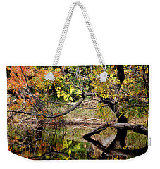 Fall From The Water Weekender Tote Bag by Holly Blunkall