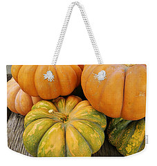 Weekender Tote Bag featuring the photograph Fall Harvest by Jean Goodwin Brooks