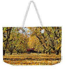 Fall In The Peach Orchard Weekender Tote Bag by Jim and Emily Bush