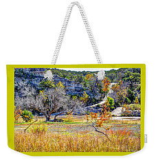 Fall In The Texas Hill Country Weekender Tote Bag by Savannah Gibbs