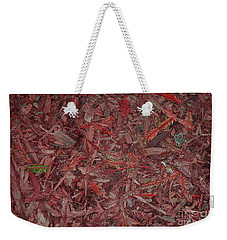 Weekender Tote Bag featuring the photograph Fall Leaves by Mini Arora
