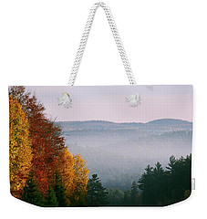 Fall Morning Weekender Tote Bag by David Porteus