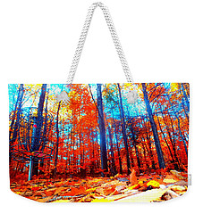 Fall On Fire Weekender Tote Bag