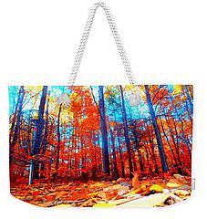 Fall On Fire Weekender Tote Bag