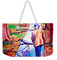 Weekender Tote Bag featuring the painting Fall On Highway 98' by Ecinja Art Works