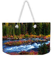 Weekender Tote Bag featuring the photograph Fall On The Deschutes River by Kevin Desrosiers