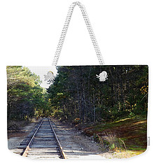 Fall Railroad Track To Somewhere Weekender Tote Bag