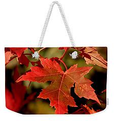 Fall Red Beauty Weekender Tote Bag