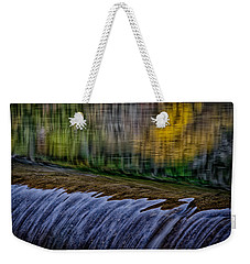 Fall Reflections At Tumwater Spillway Weekender Tote Bag