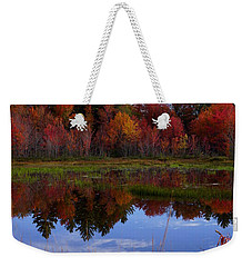 Fall Reflections Weekender Tote Bag by Kerri Mortenson
