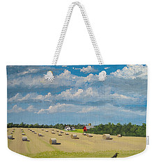 Weekender Tote Bag featuring the painting Fall Rounds by Norm Starks