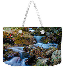 Weekender Tote Bag featuring the photograph Fall Scene In Nh by Mike Ste Marie