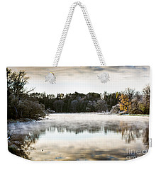 Fall Scene On The Mississippi Weekender Tote Bag